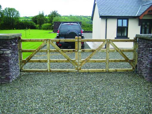 timber residential driveway gate