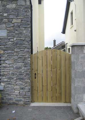 gate installation cork