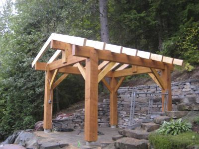 timber roofing frame by gmc carpentry