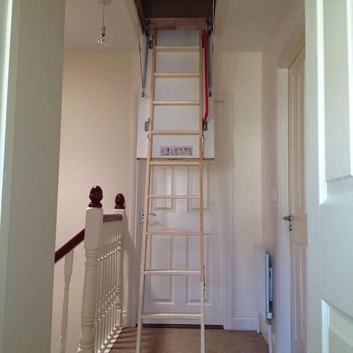 timber stairs cork
