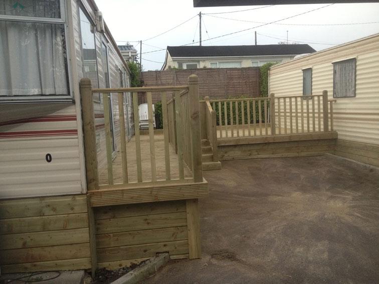 wooden garden decking