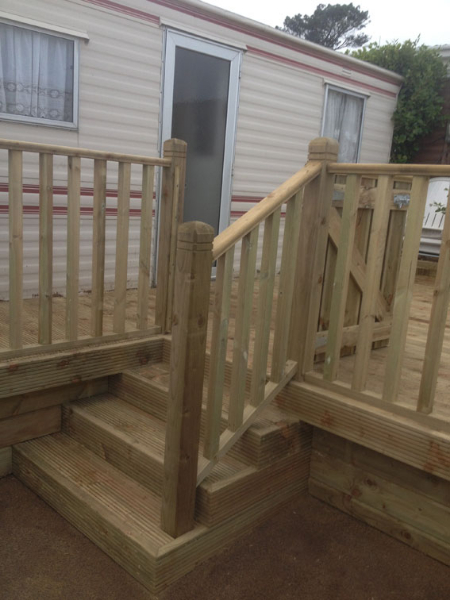 exterior decking cork by gmc carpentry
