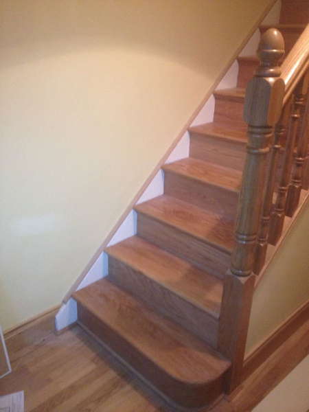wooden stairs installation