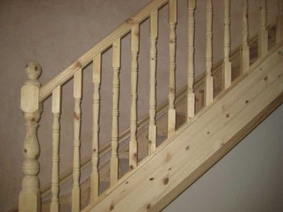 wooden stairs installation cork