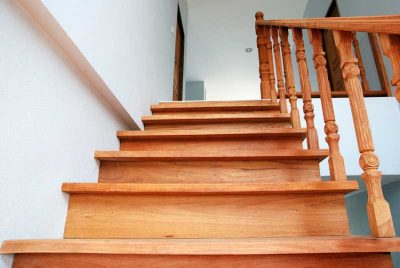 timber stairs installation