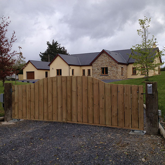 timber gate installation for a client in Cork