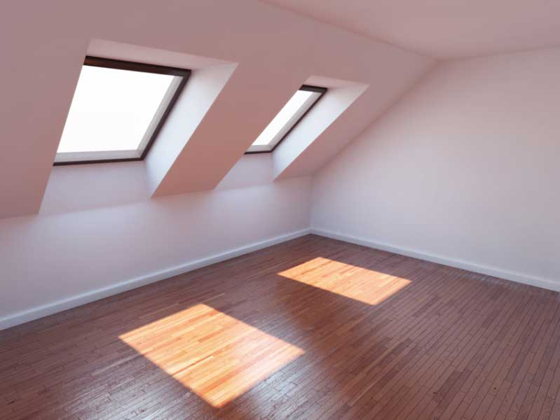 attic conversion with velux windows
