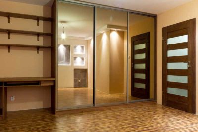 fitted wardrobe with mirrors