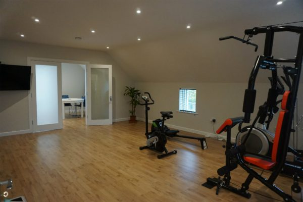 attic conversion office and gym