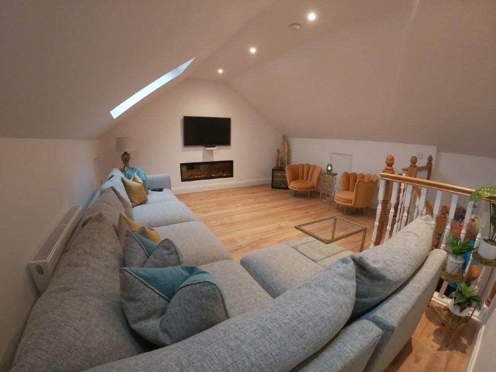 Living room in attic conversion