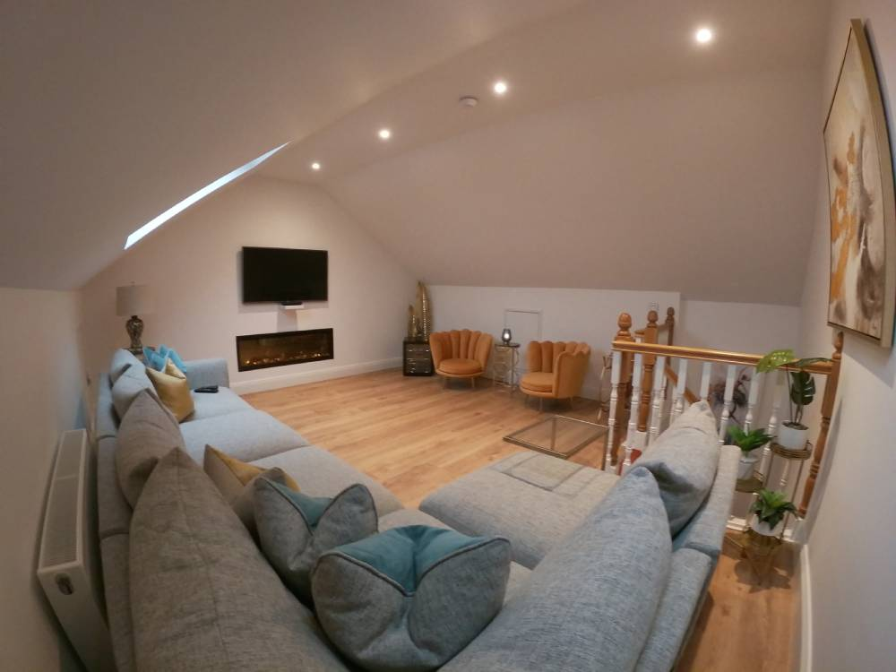 Converted attic space into a living room in cork