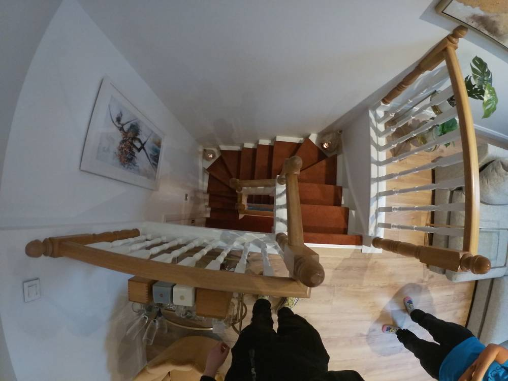 Stairs designed for attic conversion.